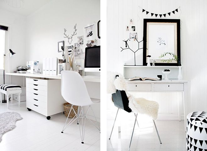 Minimalist office minimalist work space black and white for Beautiful office space design