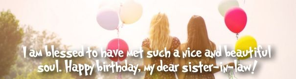 birthday greetings for sister in law Fb cover banner