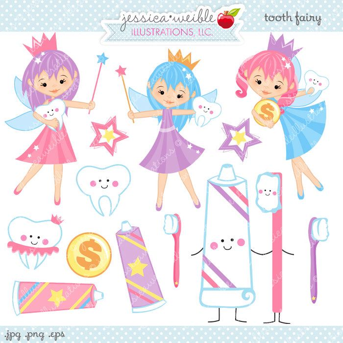 Tooth Fairy Clipart - Commercial Use OK - Tooth Fairy Graphics, Teeth Clipart, Cute Toothpaste Toothbrush Clipart by JWIllustrations on Etsy https://www.etsy.com/listing/168159519/tooth-fairy-clipart-commercial-use-ok