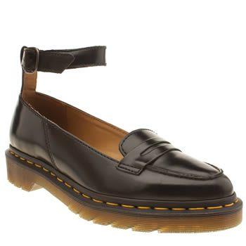 dr martens black leonie pointed penny loafer flat shoes I ...