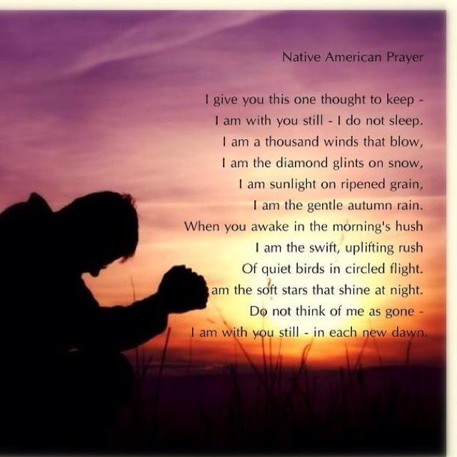 Native American Prayer...