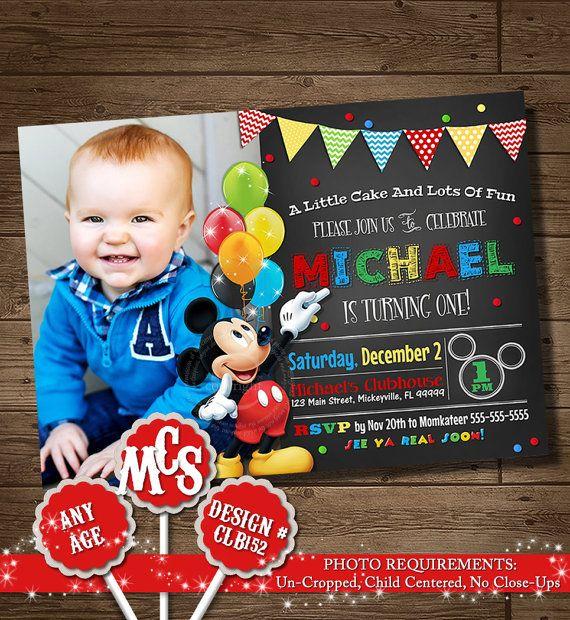 MICKEY MOUSE INVITATION Birthday Invitation by MyCelebrationShoppe