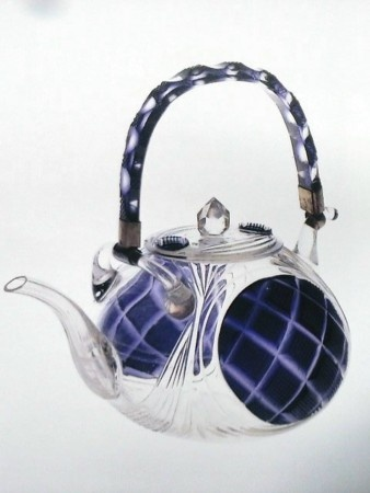 Konvička na čaj • sklo, Edo Kiriko