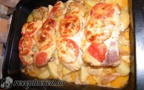 Rakott sült hús zöldségekkel recept fotóval