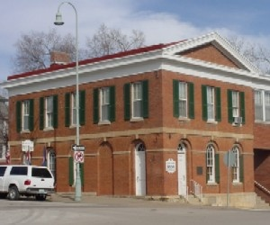Jesse James Bank, Liberty Missouri  first daylight bank robbery