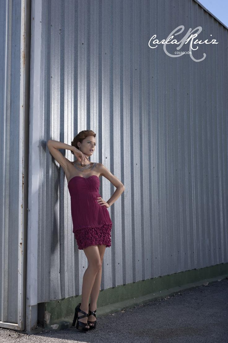 Vestido de Carla Ruiz Cocktail 2012 - Modelo 86009
