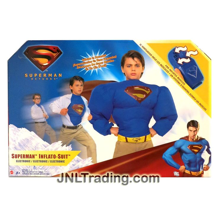 Mattel Year 2006 DC Movie Series Superman Return Electronic SUPERMAN INFLATO-SUIT Costume with Fan and Cape Included