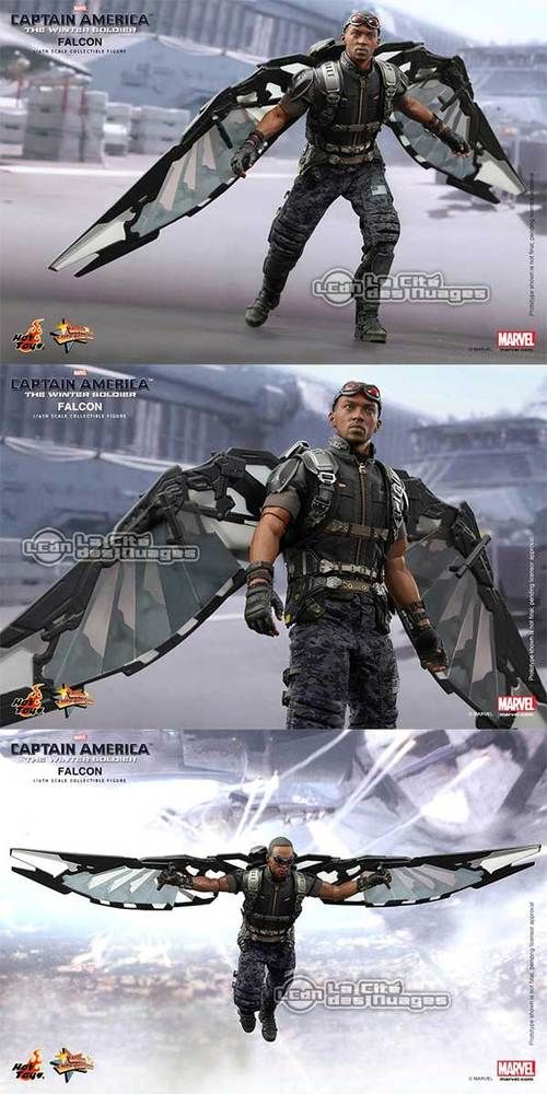 Hot Toys Captain America Le Soldat de l'Hiver Le Faucon The Winter Soldier Falcon ( Anthony Mackie