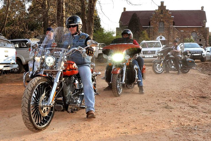 #Harley Davidson had a rally in Dullstroom that weekend... and obliged us with an escort out of town!