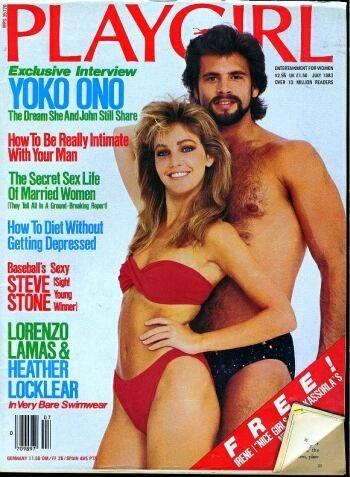 Heather Locklear, Lorenzo Lamas - Playgirl Magazine Cover [United States] (July 1983)