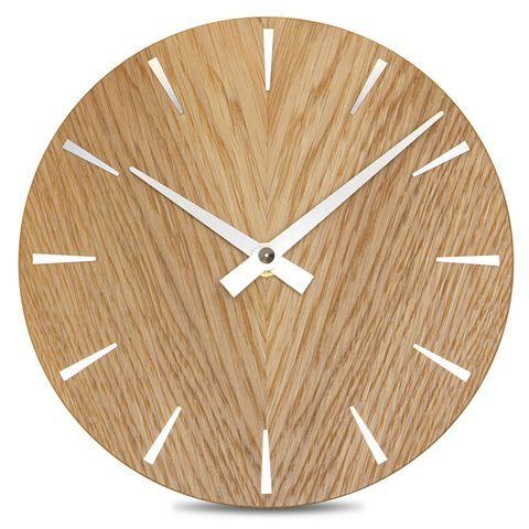 In House - Oak Disc Wall Clock