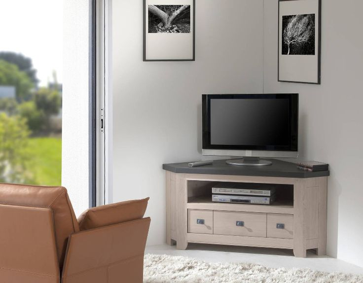 les 25 meilleures id es de la cat gorie meuble tv angle. Black Bedroom Furniture Sets. Home Design Ideas