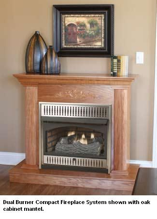 Vantage Hearth Classic Hearth VMH26 Vent-Free Compact Natural Gas Firebox with Remote Ready Gas Logs - 26 Inch
