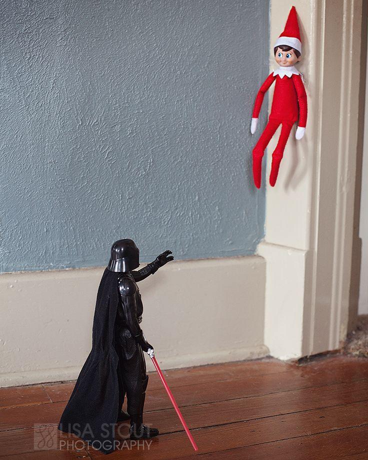Elf on the Shelf | McPherson Kansas Photography » Lisa Stout Photography  #elfontheshelf, christmas, elf, darth vader, star wars