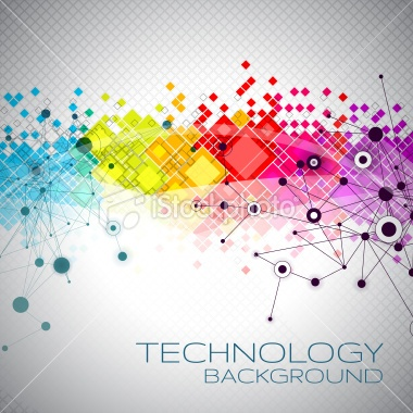 Abstract Technology Background | Royalty Free Stock Vector Art Illustration