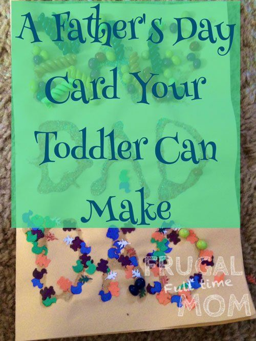 Card Making Ideas For 2 Year Olds Part - 32: A Fatheru0027s Day Card That A Toddler Can Make. Fun Playful Craft That A 2