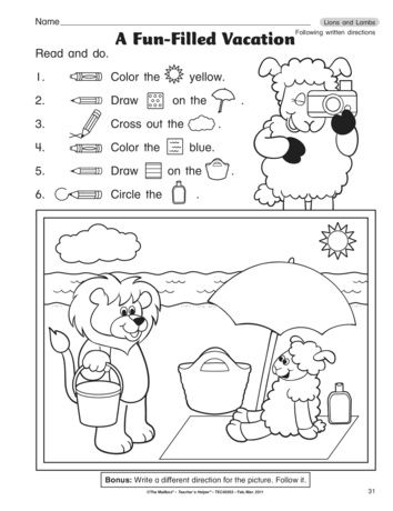 A fun following written directions worksheet for the end