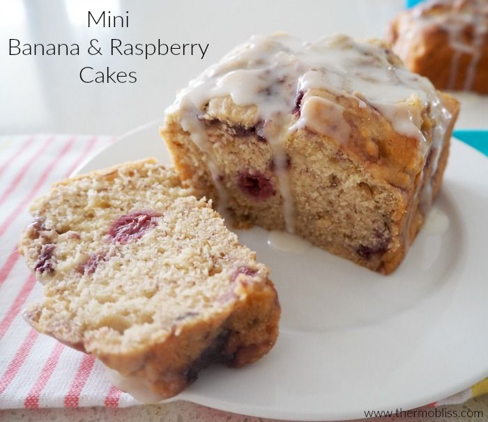 Thermomix Banana and Raspberry Cake Recipe