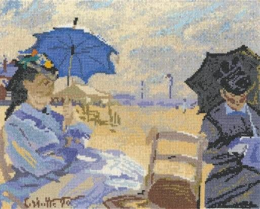 Claude Monet: The Beach At Trouville Cross Stitch Kit - £29.00 on Past Impressions | by DMC