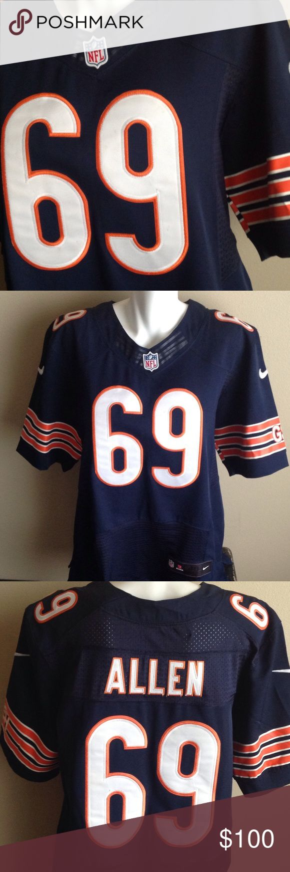 Jared Allen Chicago Bears Jersey Worn once to the Packers vs. Bears game in 2014 and since then I have gotten jerseys that fit me better...this is just too big for me to be comfortable. Nike Other