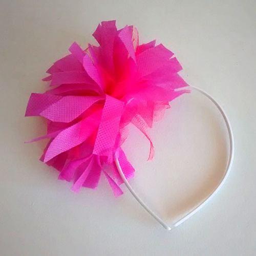 vincha pompon flores corona - casamientos cotillon 12 vincha
