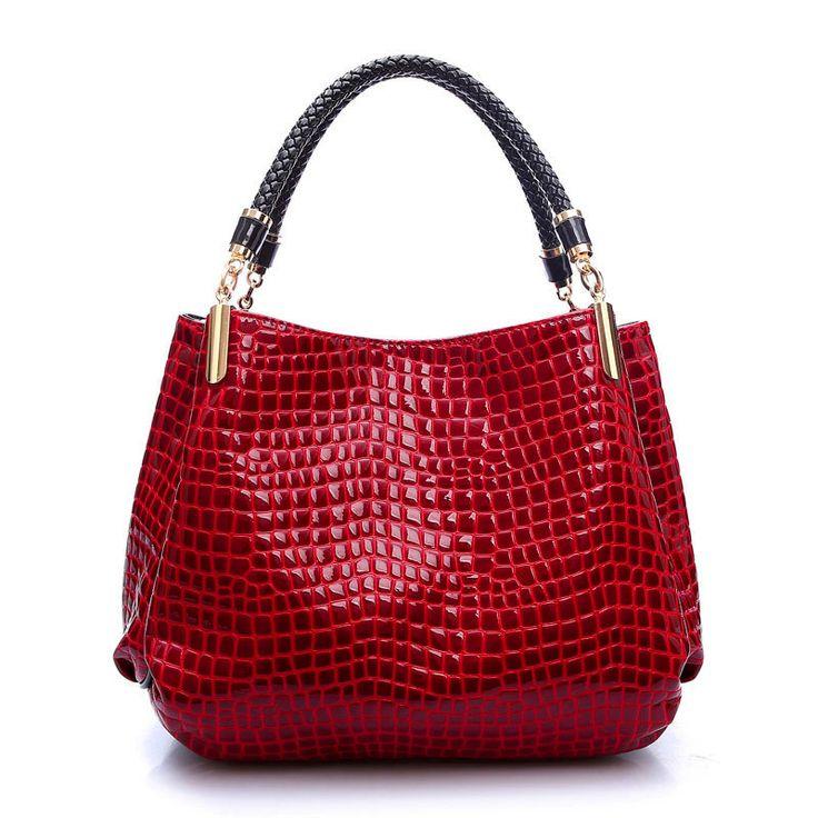 $17.99 (Buy here: https://alitems.com/g/1e8d114494ebda23ff8b16525dc3e8/?i=5&ulp=https%3A%2F%2Fwww.aliexpress.com%2Fitem%2F2016-designer-Brand-Leather-bolsas-femininas-Women-bag-ladies-Pattern-Handbag-Shoulder-Bag-Female-Tote-Sac%2F32690710404.html ) Alligator Leather Women Handbag Bolsas De Couro Fashion Famous Brands Shoulder Bag Black Bag Ladies Bolsas Femininas Sac for just $17.99