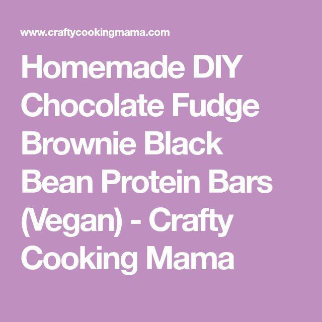 Homemade DIY Chocolate Fudge Brownie Black Bean Protein Bars (Vegan) - Crafty Cooking Mama