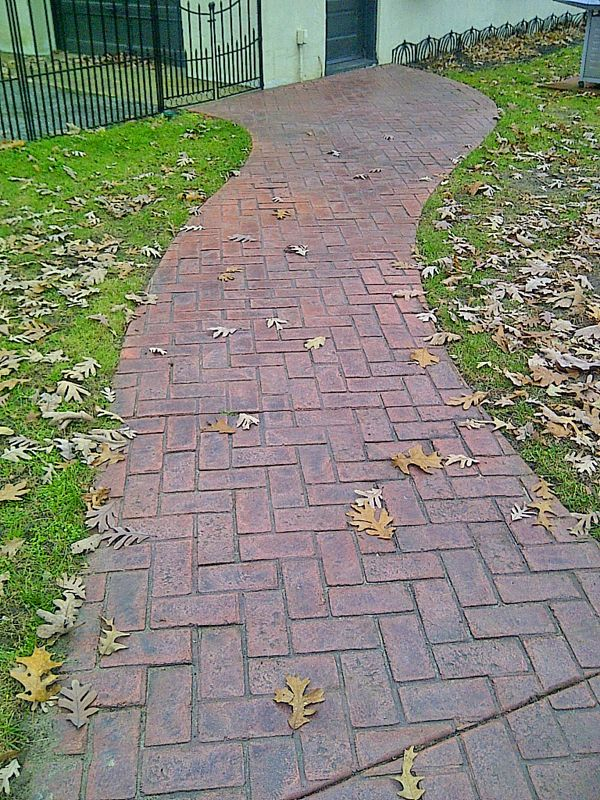 Stamped Concrete Walkways  Sidewalks South New Jersey  Sidewalk  Stamped concrete walkway