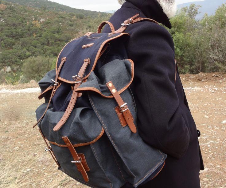 BP 30026 recycled denim with goatskin leather