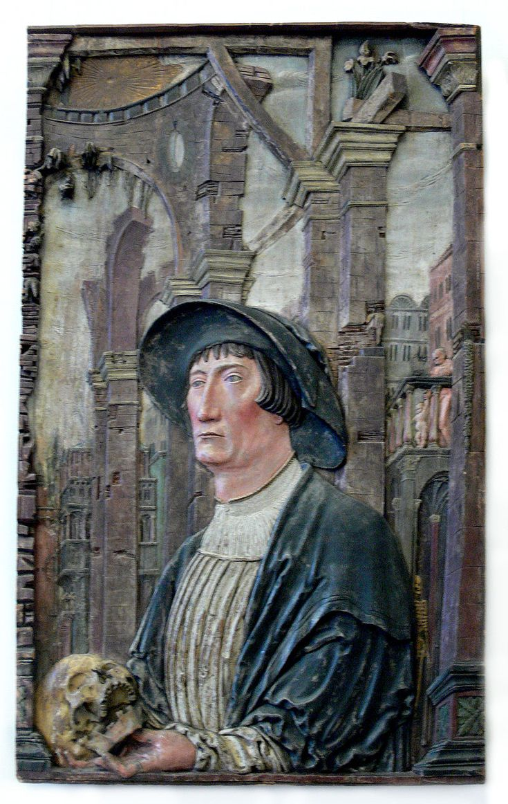 Hans Schenck, Portrait of Tiedemann Giese, before 1526, Bode-Museum, Berlin.  https://de.wikipedia.org/wiki/Hans_Schenck