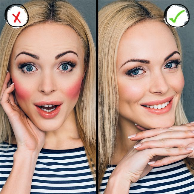 Blush tips, blush application, blush mistakes, how to apply blush