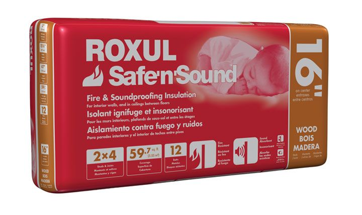 safe n sound insulation resistant to mold, fire and sound proof, was used on Holmes on Homes soud proof episode.  Not necessarily this brand though.