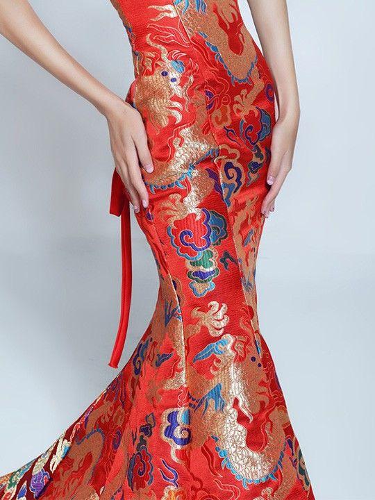 Fishtail Cheongsam / Qipao / Chinese Wedding Dress - cozyladywear