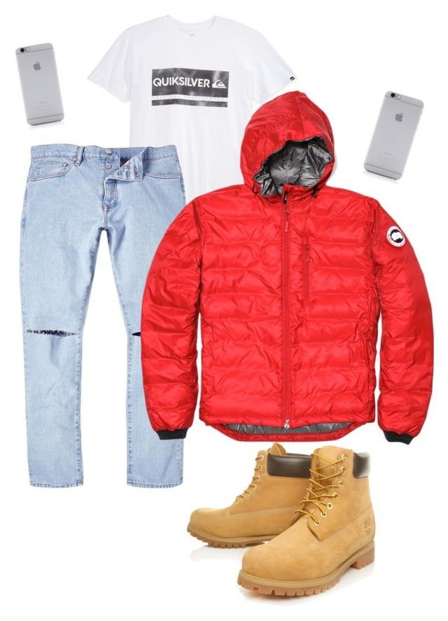 """1-800-hotlinebling"" by mymistyeye on Polyvore featuring Quiksilver, River Island, Canada Goose, Timberland, Native Union, men's fashion, menswear, DRAKE, timberland и hotlinebling"