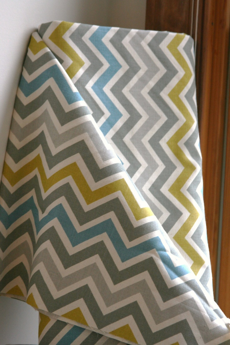 Summerland/Natural Chevron Home Decor Weight Fabric from Premier Prints - ONE  YARD. $11.00, via Etsy.