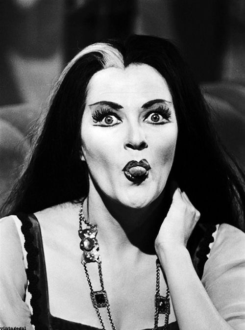 Yvonne De Carlo on the set of The Munsters (1960's)
