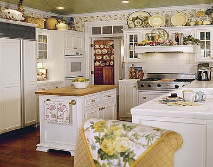 87 best country cottage french images on pinterest - Pictures of country cottage kitchens ...