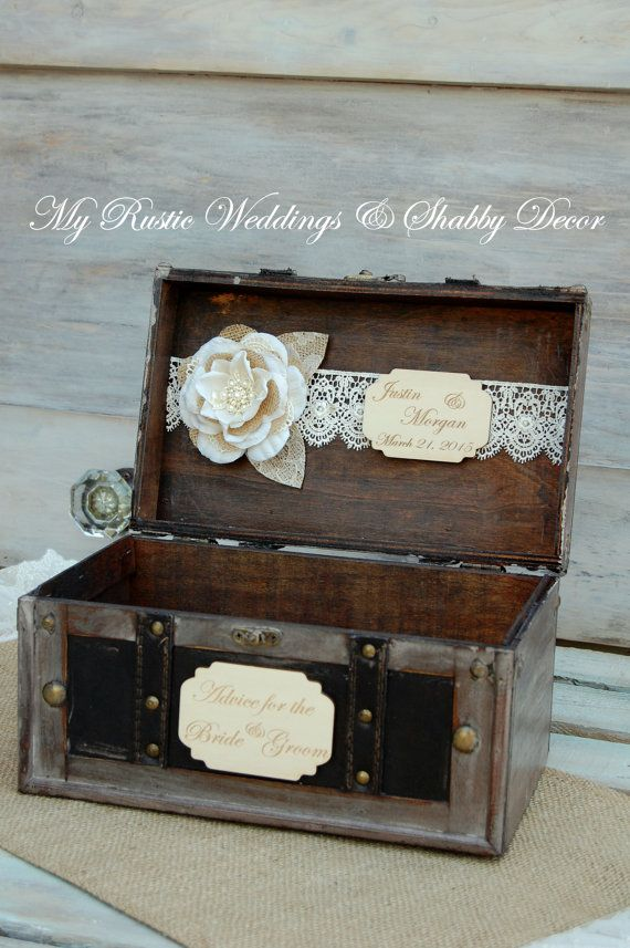 Rustic Advice Box/Rustic Wedding Decor/Wedding Advice Box/Shabby Chic Advice Box/Well Wishes/Keys to a Happy Marriage/Advice Box/ Love Notes