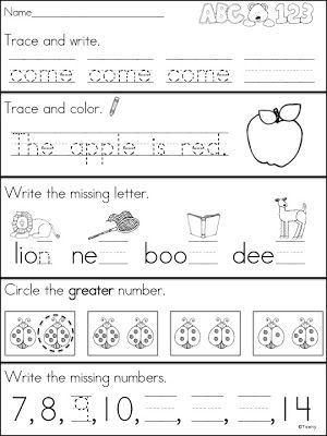 Worksheets Kindergarten Morning Worksheets 1000 ideas about kindergarten morning work on pinterest a teeny tiny teacher continued