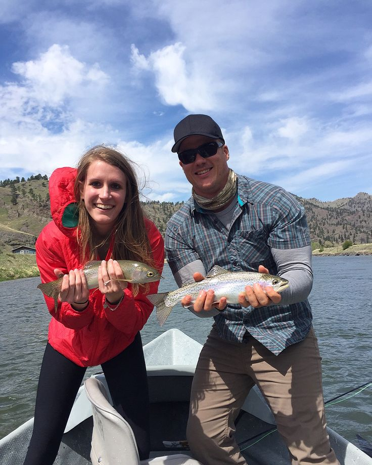 Float trip down the Missouri River in Montana. Fly fishing and catching lots of fish. Such a fun day!  Follow us on Instagram @the_traveling_duo