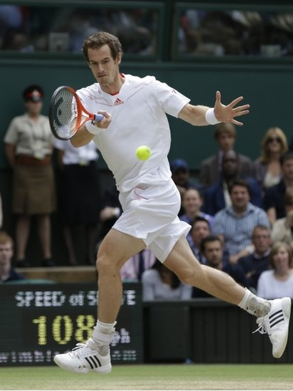 Andy Murray in the Wimbledon final