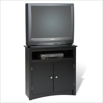 Prepac Sonoma Tall Corner TV Stand in Black - BTV-3232