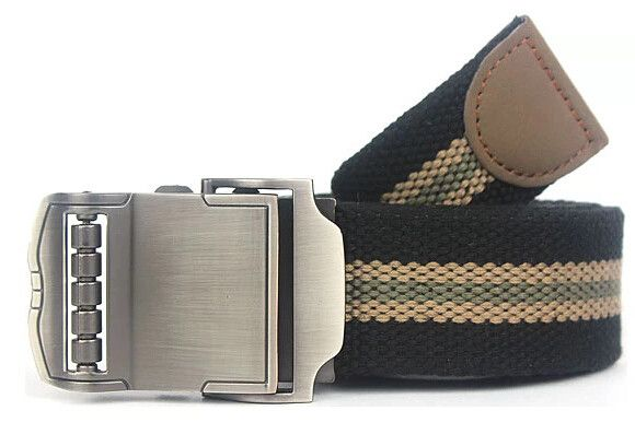 Sports Car Style Buckle Men Canvas Belts High Quality Male Straps Military Equipment Belt Men's Tactical Luxury Belts