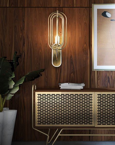 Turner Fixture is a classy choice with a mid century design. The rotating arcs are in brass and you can customize the finishes.