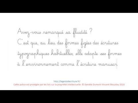 Police de caractères Cursive Dumont maternelle - Ulule