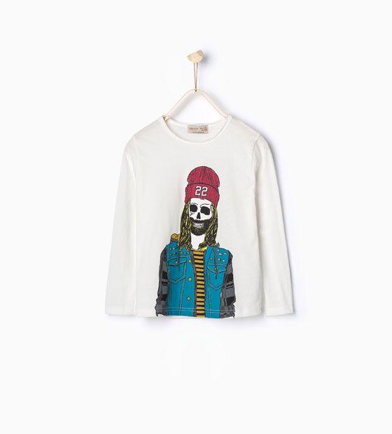 T-shirt met doodshoofd en studs - Zara kids - AW 15