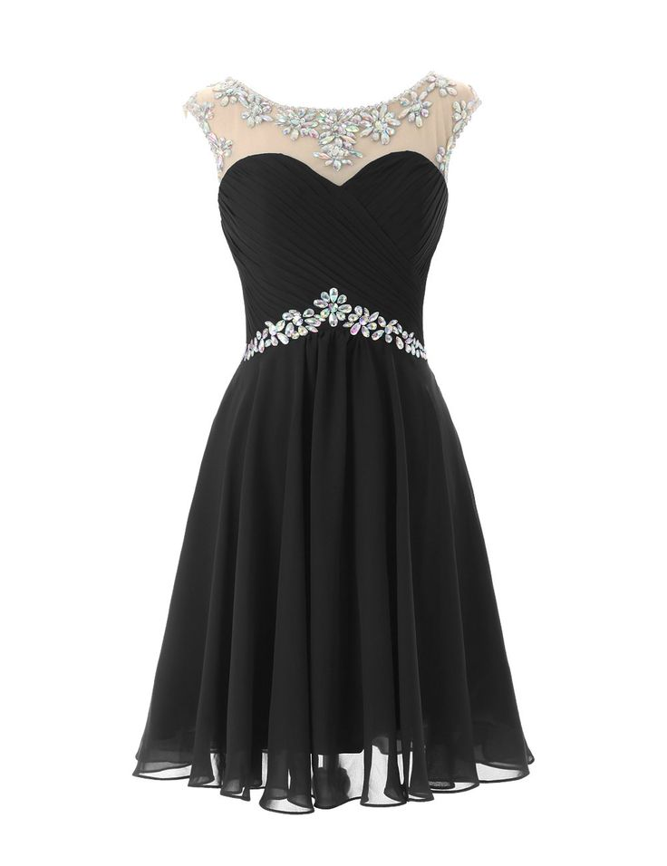 Dresstells Short Prom Dresses Sexy Homecoming Dress for Juniors Birthday Dress Black Size 6