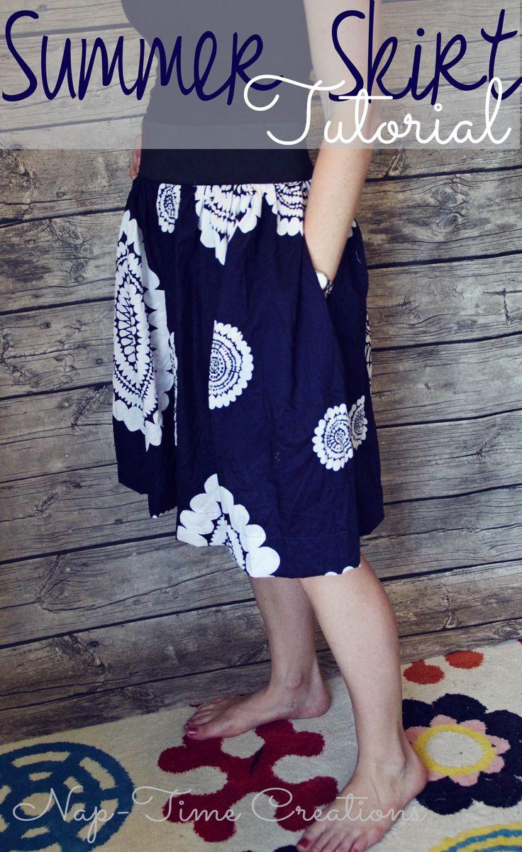 summer skirt sewing tutorial