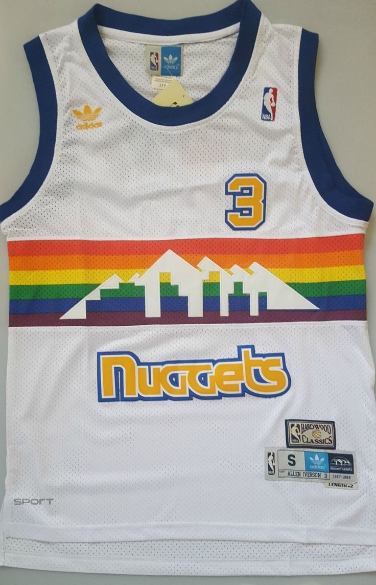 NBA ALLEN IVERSON DENVER NUGGETS #3 SWINGMAN JERSEY WHITE  SIZE  S/M/L | Sports, vacances, Basketball, Maillots | eBay!