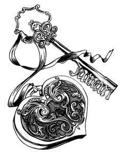 Locket Tattoo on Pinterest.....LOVE instead of whatever word the key says